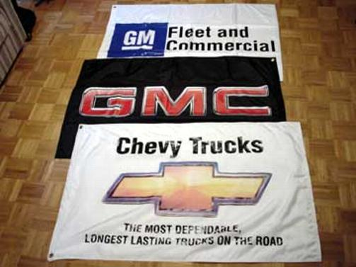 Contracted 3'x5' for GM, printed sewn & assembled in-house